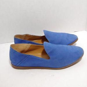 Franco Sarto blue suede loafers